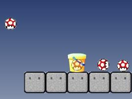 Mushroom Basket with Mario