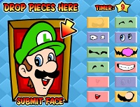 Mario Bros Faces Memory