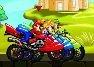 Easy moto race with Mario and friends