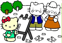 Coloring Hello Kitty