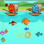 2 Player Fishing: Fireboy and Watergirl