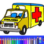 Ambulance Colouring Pages