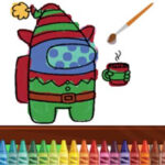 Christmas Online Coloring Among Us