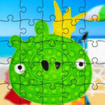 Pop-It Jigsaw Puzzles with Angry Birds