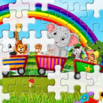 Animal Train Jigsaw Puzzle