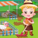 Baby Hazel at the farm