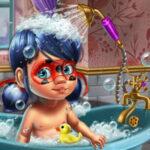 Baby Ladybug Bath