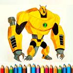 Ben 10 Coloring Monsters