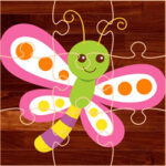 Butterflies Drawings Puzzles for Kids