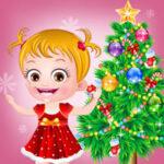 Baby Hazel at Christmas