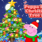 Peppa Pig decorates the Christmas Tree