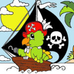 Color the Pirate Ship game