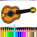 Coloring Musical Instruments