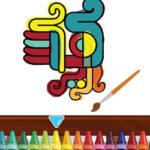 Colouring Aztec Symbols