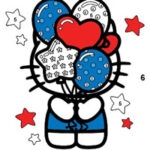 Hello Kitty Colouring by Numbers