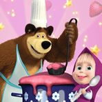 Cooking with Masha and the Bear
