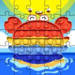 Crab Pop-It Jigsaw Puzzles