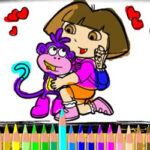 Dora and Boots Painting