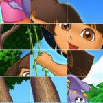 Sliding puzzle with Dora