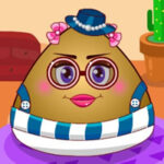 Dress up and make up the Pou girl