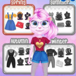 Dress Up Angela: 4 Seasons