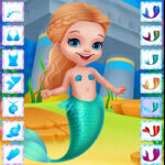 Dress Up Little Mermaids