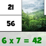 Multiplication Tables Puzzles for Earth Day