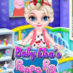 Decorate Elsa's room with Peppa Pig