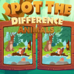 Spot 7 Differences: Animals