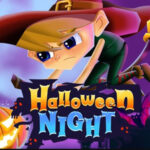 Flappy Halloween Night with the Witch