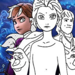 Frozen Coloring by Numbers