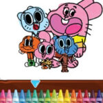 Gumball Colouring Game