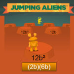 Jumping Aliens: Algebraic Expressions Race