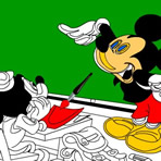 Mickey Mouse coloring game