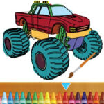 Colouring Monster Truck
