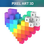 3D Pixel Coloring