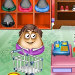 Pou Drives and goes shopping