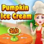 Pumpkin Ice Cream with Baby Hazel