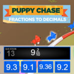 Puppy Chase: Fractions to Decimals