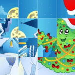 Rotating Pieces Christmas Puzzle