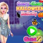Glamorous and scary make-up