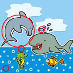 Spot the Differences with Sea Animals