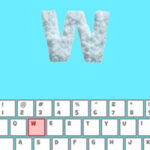 Snow Letters Typing