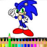 Sonic Colouring Game