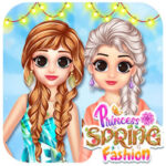 Spring Princesses Dress up game