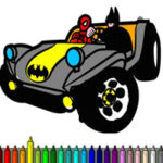 Superhero Car Coloring