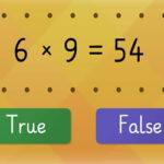 Table of 6: True or False