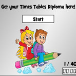 Times Tables Test with Diploma
