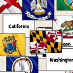 US States Flags and Capitals