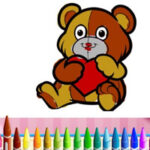 Valentine's Day Animal Colouring